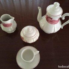 Antigüedades: JUEGO DE CAFÉ O TÉ DE DOCE SERVICIOS. CERÁMICA SEGOVIANA. Lote 93390805