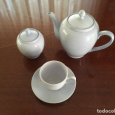 Antigüedades: JUEGO DE CAFÉ O TÉ DE SEIS SERVICIOS. PORCELANA CHINA. Lote 93391540