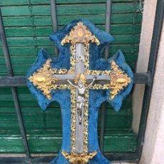 Antigüedades: BENDITERA Y CRISTO,. Lote 93416380