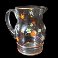 Antigüedades: ANTIGUA JARRA DE CRISTAL, FLORES, IDEAL. Lote 93502110