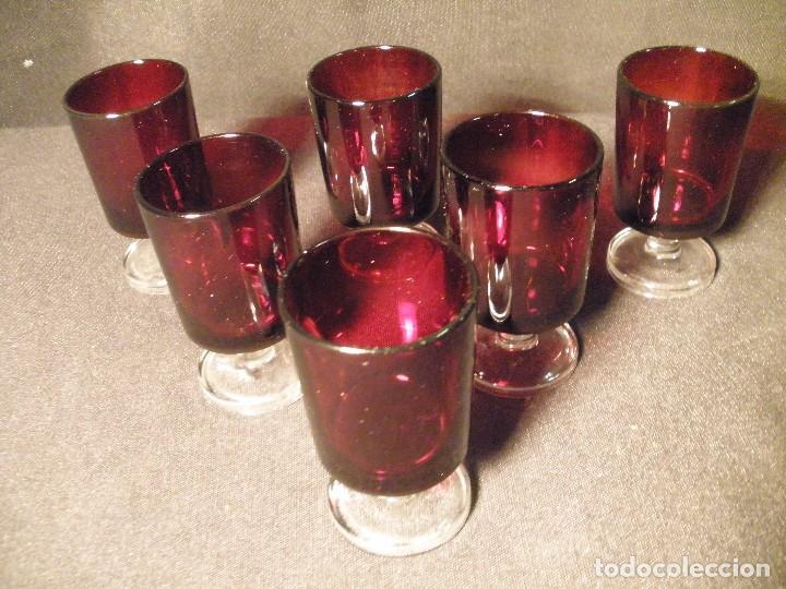 Antigüedades: copas de jerez juego de 6- - Foto 3 - 93536145