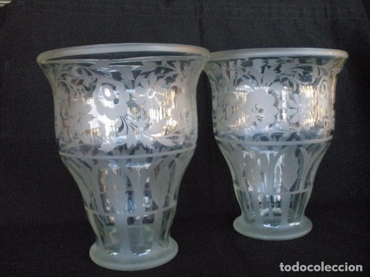 Antigüedades: pareja de jarrones- - Foto 2 - 93558740