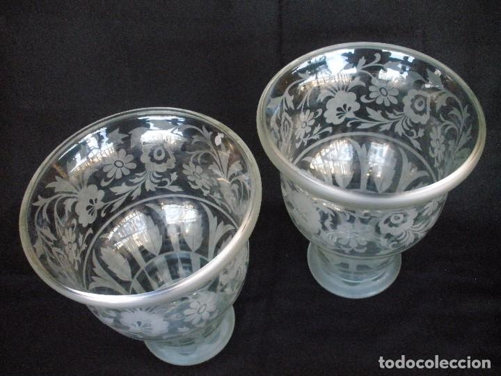 Antigüedades: pareja de jarrones- - Foto 6 - 93558740