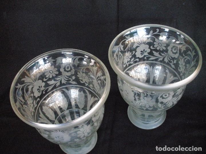 Antigüedades: pareja de jarrones- - Foto 7 - 93558740