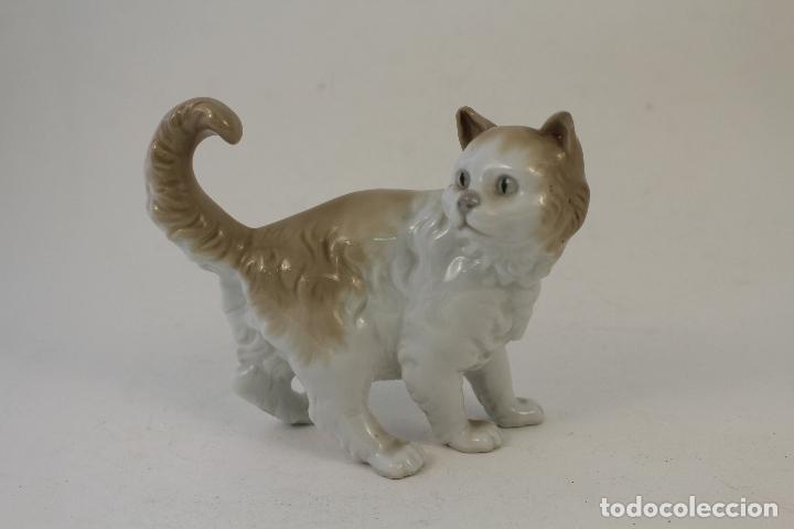 Antigüedades: gato en porcelana nao - lladró - Foto 2 - 96562428