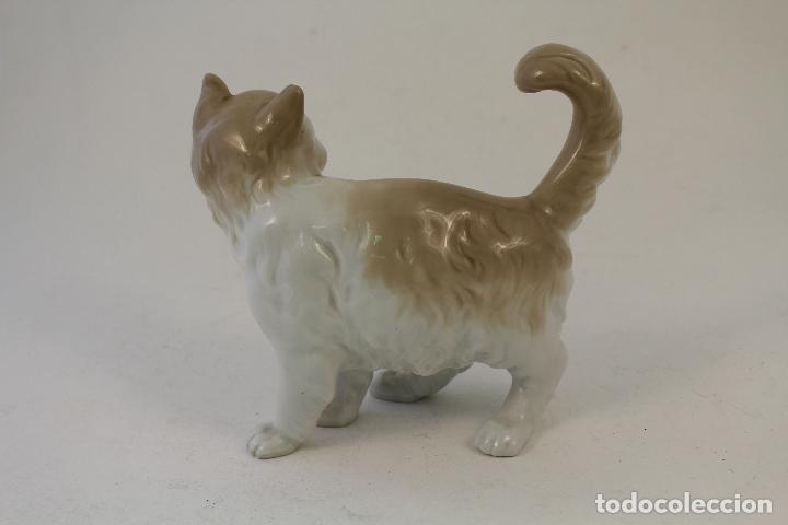 Antigüedades: gato en porcelana nao - lladró - Foto 3 - 96562428