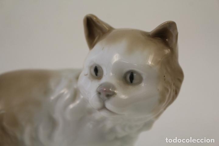 Antigüedades: gato en porcelana nao - lladró - Foto 4 - 96562428