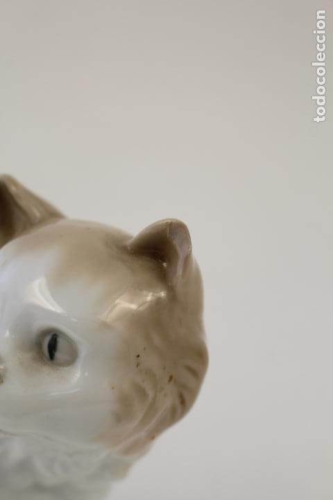 Antigüedades: gato en porcelana nao - lladró - Foto 7 - 96562428