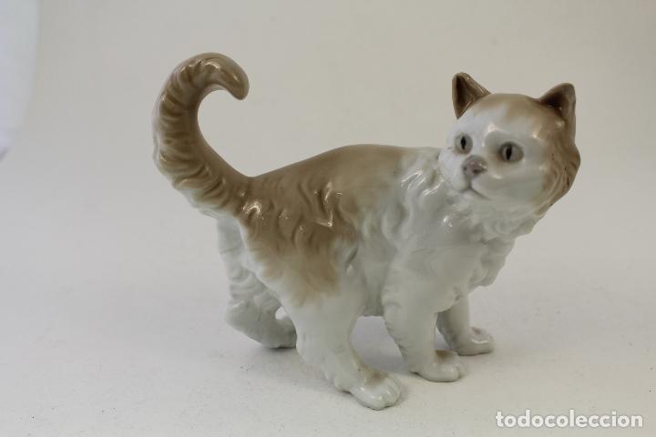 Antigüedades: gato en porcelana nao - lladró - Foto 8 - 96562428