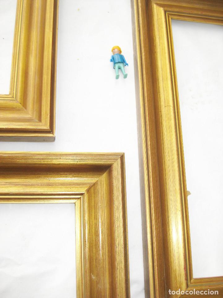 lote 3 marcos madera dorada antiguos midcentury - Comprar Marcos ...