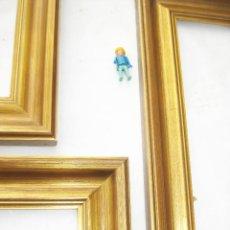 Antigüedades: LOTE 3 MARCOS MADERA DORADA ANTIGUOS MIDCENTURY IDEAL PINTURA OLEO ESPEJO MARCO VINTAGE ANTIGUO. Lote 93640645