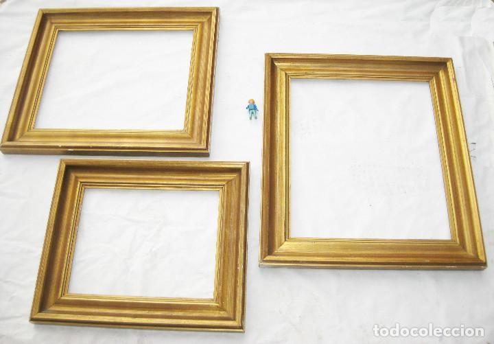 antigedades lote marcos madera dorada antiguos midcentury ideal pintura oleo espejo marco vintage antiguo