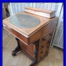 Antigüedades: BUREAU DAVENPORT DE FINALES DEL XIX EN NOGAL. Lote 93644495