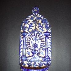 Antigüedades: BENDITERA EN AZUL GRANADA - FAJALAUZA, SÉC XIX. Lote 93716155