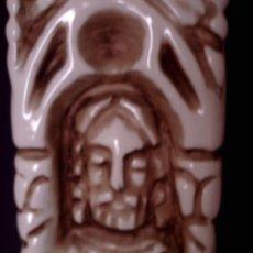 Antigüedades: FANTASTICA LAMPARA DE SOBREMESA CERAMICA DE MANISES, REPRESENTA LOS CUATRO EVANGELISTAS. Lote 93723965