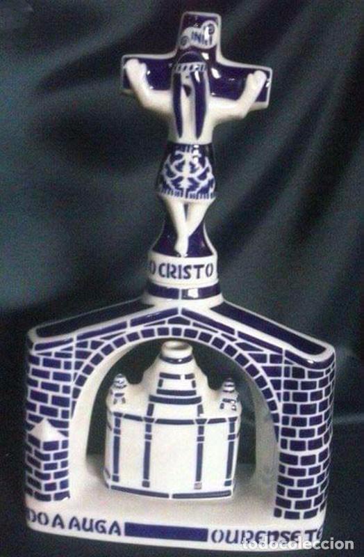 BOTELLA CRUZ CERÁMICA SARGADELOS AÑOS 60-70 (Antigüedades - Porcelanas y Cerámicas - Sargadelos)