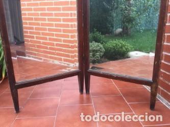 Antigüedades: DOBLE ESPEJO CON PATAS. - Foto 4 - 93749600