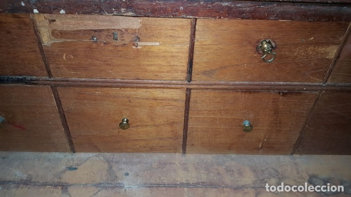 Antigüedades: ESCRITORIO DE BARCO. MADERA DE CEDRO. ESPAÑA. SIGLO XVIII. - Foto 5 - 198019392