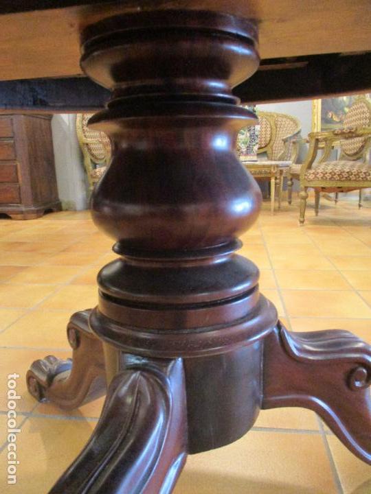 Antigua mesa - isabelina - madera caoba - exten - Verkauft ...