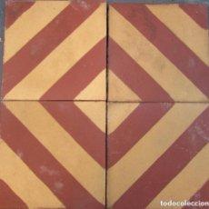 Antigüedades: CENEFA DE 4 BALDOSA HIDRAULÍCA CATALANA. Lote 93783170