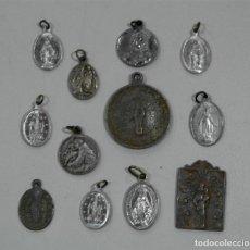 Antigüedades: LOTE DE DOCE MEDALLAS ANTIGUAS. Lote 93789545
