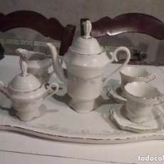 Antigüedades: JUEGO DE CAFE DE PORCELANA PARA DOS - POCELANAS TANGO - SPAIN . Lote 93800675