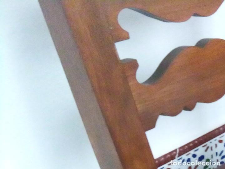 Antigüedades: 6 sillas antiguas, tipo castellano con asientos de cuero, ver fotos - Foto 8 - 93807465