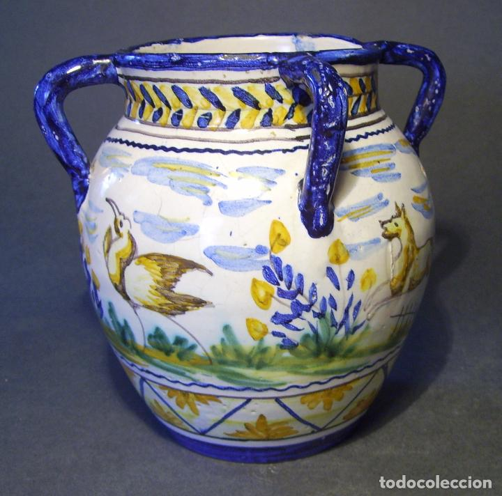 Antigüedades: JARRÓN CERÁMICA DE TRIANA XX - Foto 6 - 93847865