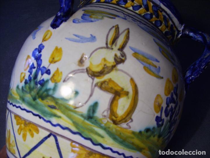 Antigüedades: JARRÓN CERÁMICA DE TRIANA XX - Foto 9 - 93847865