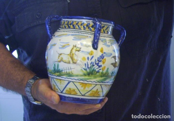 Antigüedades: JARRÓN CERÁMICA DE TRIANA XX - Foto 20 - 93847865