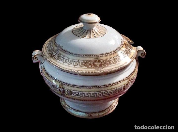 SOPERA DE PICKMAN,1880-1899, IMPECABLE, UNA JOYA. (Antigüedades - Porcelanas y Cerámicas - La Cartuja Pickman)
