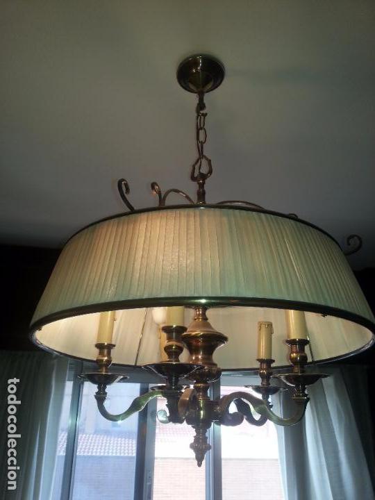 LAMPARA DE TECHO EN BRONCE (Antigüedades - Iluminación - Lámparas Antiguas)