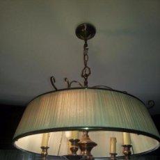 Antigüedades: LAMPARA DE TECHO EN BRONCE . Lote 93916305