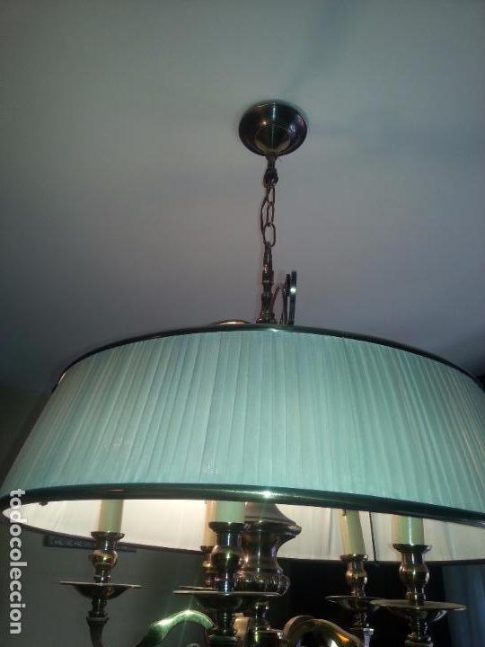 Antigüedades: Lampara de techo en bronce - Foto 3 - 93916305
