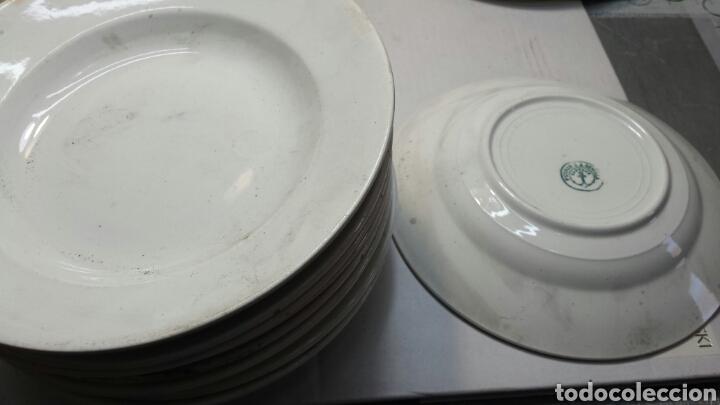 LOTE 9 PLATOS CERAMICA LA CARTUJA PICKMAN PRINCIPIO DE 1900 (Antigüedades - Porcelanas y Cerámicas - La Cartuja Pickman)