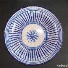 Antigüedades: PLATO ANTIGUO DE CERÁMICA LOZA MANISES ESPAÑOL. Lote 93922035