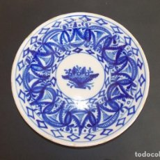 Antigüedades: PLATO ANTIGUO DE CERÁMICA LOZA MANISES ESPAÑOL. Lote 93923840
