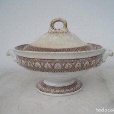 Antigüedades: SOPERA MUY ANTIGUA PICKMAN CON SELLO. DIÁMETRO 25 CM. ALTURA SIN LA TAPADERA 12,5. SIGLO XIX. Lote 93932655