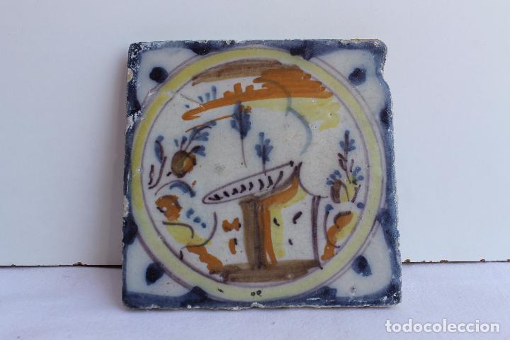 AZULEJO POLICROMADO DE TRIANA SIGLO XVIII (Antigüedades - Porcelanas y Cerámicas - Triana)