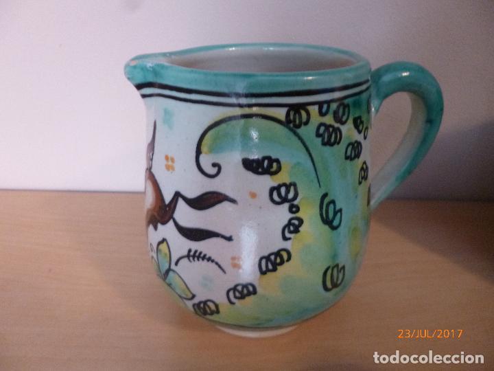 Antigüedades: Juego de café Puente del Arzobispo. 15 piezas taller La Purisima mas 1 jarra de agua independiente. - Foto 7 - 93963385
