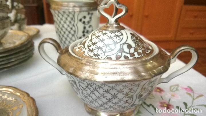 Antigüedades: JUEGO ANTIGUO DE CAFÉ DE PORCELANA Y PLATA BAVARIA - Foto 2 - 93970335