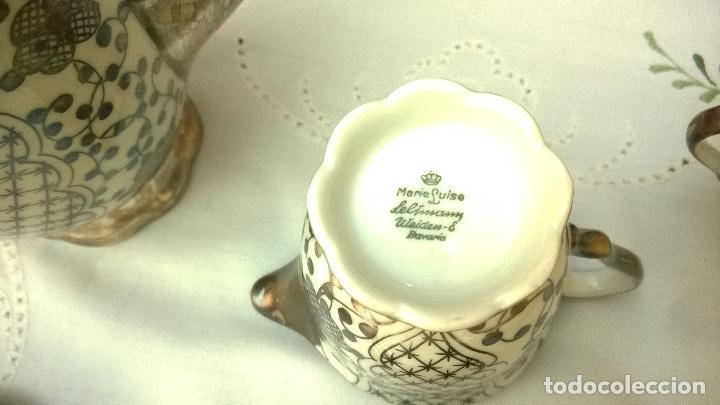 Antigüedades: JUEGO ANTIGUO DE CAFÉ DE PORCELANA Y PLATA BAVARIA - Foto 3 - 93970335