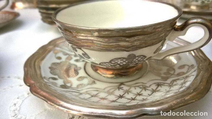 Antigüedades: JUEGO ANTIGUO DE CAFÉ DE PORCELANA Y PLATA BAVARIA - Foto 4 - 93970335