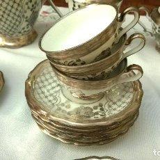 Antigüedades: JUEGO ANTIGUO DE CAFÉ DE PORCELANA Y PLATA BAVARIA. Lote 93970335