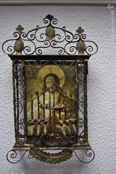 Antigüedades: CAPILLA O URNA DE PARED ANTIGUA - Foto 9 - 56754178