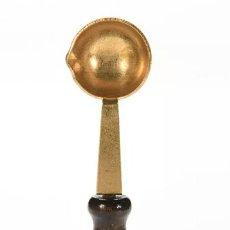 Antigüedades: CAZO PARA CALENTAR LACRE O CERA PARA SELLAR. Lote 94005328
