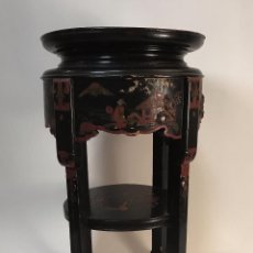 Antigüedades - Pedestal madera lacada. China. S. XIX - 94011405