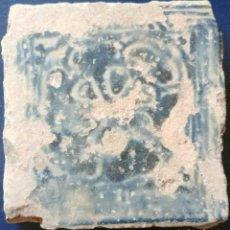 Antigüedades: AZULEJO CERAMICA MUY ANTIGUO.. Lote 94038552
