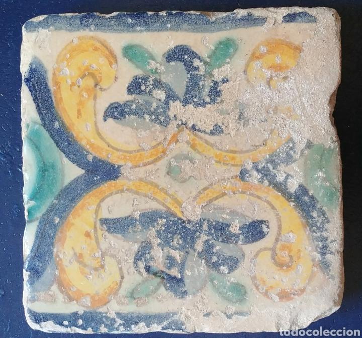 AZULEJO DE CERAMICA ANTIGUA. (Antigüedades - Porcelanas y Cerámicas - Otras)