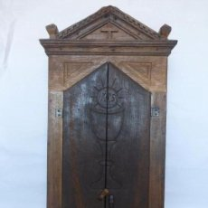 Antigüedades: ANTIGUA Y ENORME HORNACINA DE SANTO-CASTAÑO GALLEGO-RESTAURADA-MADERA EN DOS TONOS-ORIGINAL S. XVIII. Lote 94046005